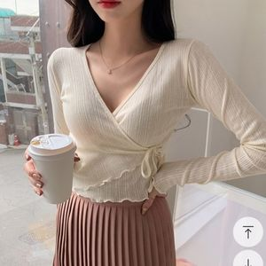 Korean Chuu Wrap Top Sz S